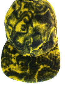 The North Face 94 Rage Reverse Cap Hat Black and Yellow Fleece Hard to Find Item