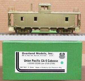 OMI/Overland Models - UP/Union Pacific CA-6 Caboose *BRASS* S-Scale LNIB