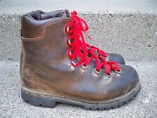 Vtg Vasque Leather Mountaineering Hiking Boots Brown Mens Made in Italy Size 8.5