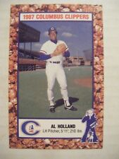 AL HOLLAND 1987 COLUMBUS CLIPPERS baseball card GIANTS YANKEES PHILLIES PIRATES