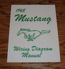 1968 Ford Mustang Wiring Diagram Manual Brochure 68