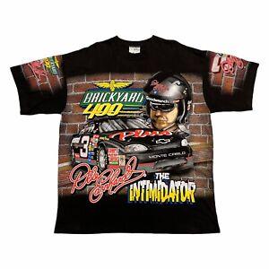 Dale Earnhardt Brickyard 400 1998 Tshirt   Vintage 90s Motorsports NASCAR Black