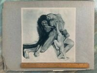 Powerful KATHE KOLLWITZ Tod und Weib Etching Early 1900s Germany Print ART