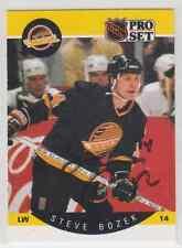 Autographed 90/91 Pro Set Steve Bozek - Canucks