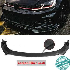 Carbon Fiber For Volkswagen Golf MK7 MK7.5 MK6 GTI GTD 14-2019 Front Bumper Lip