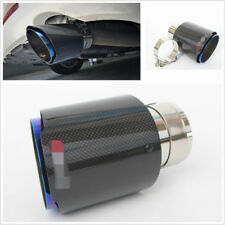 Stainless Steel + Carbon Fiber Inlet 3'' Outlet 4'' Car Exhaust Tip Muffler Pipe