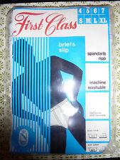 VINTAGE ORIGINALE 1970s WHITE yfront PRIMA CLASSE SLIP Pantaloni NUOVO in confezione!