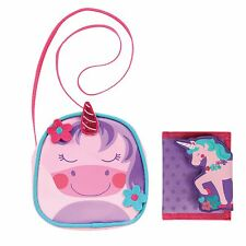 Stephen Joseph Girls Unicorn Cross Body Purse and Wallet - Cute Handbag for Kids
