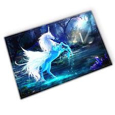 Stylish Magic horse Absorbent Flannel Bathroom Floor Shower Mat Rug Non-slip