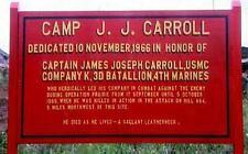 CAMP CARROLL HAT LAPEL PIN UP US MARINES ARTILLERY BASE VIETNAM KILO COMPANY