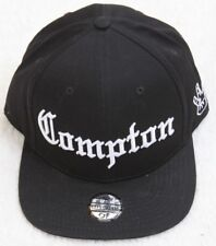 New Compton NWA Black Hat Cap Adjustable Snapback One Size FitsAll Topcul Cotton