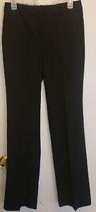 NWT Ann Taylor Black Classic Ann Fit Trouser Leg Dress Pants Size 2