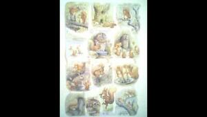 """Beatrix Potter Collage Sheet """"Tale of Squirrel Nutkin,"""" No: 1785. by F. Warne."""