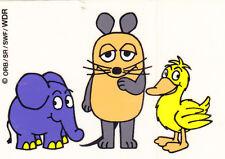 Aufkleber-WDR-Die Sendung mit der Maus-Maus-Elefant-Ente-Fernsehen-Köln-rar