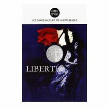 Les Valeurs de la République, Cartelette Liberté - Monnaie 5 euros, Argent.