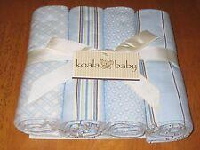 Koala Baby 4 Pack Flannel Receiving Blankets -BLUE