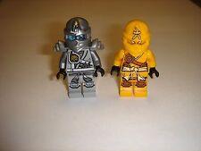 2 Lego Ninjago SKYLOR Yellow Nlnja  &Titanium Zane Minifigures 2015 lot