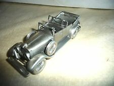 DANBURY MINT METAL PEWTER AUTO CAR LINCOLN CONVERTIBLE 1928