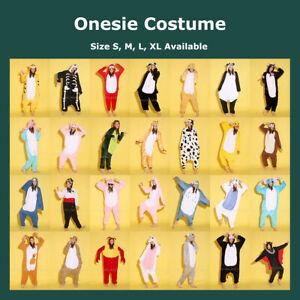 Unisex Adults Fleece Onesie Kigurumi Animal Pyjamas Cosplay Costumes Sleepwear