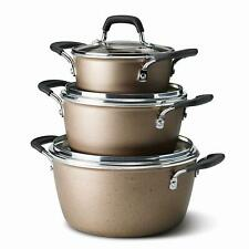 Tramontina 6-Piece Stackable Non stick Cookware Set Champagne - Free Shipping