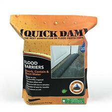 2-Pack Quick Dam Flood Barriers 5 ft. Absorb Contain Divert Flood Water Swells