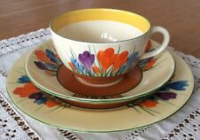 Clarice Cliff Autumn Cocus trio - cup, saucer, side plate - perfect