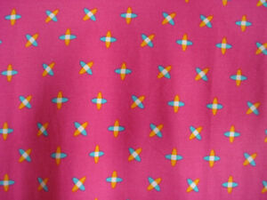 LuLaRoe Classic NWT XS Bright Pink with a small abstract print