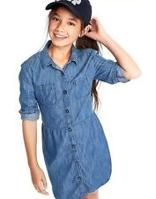 Gap Kids Girl's Fall 1969 Denim Chambray Shirt Dress XXL 14-16 NWT