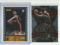 2 count lot 2019/20 Tyler Herro Rookie Cards Select Concourse & panini Sticker