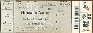 Lance Berkman HR #172 9/4/05 Cardinals at Astros Full Ticket Jason Marquis W #40