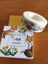 Little Fox Decorative Scrapbooking Adhesive Masking Tape Washi Tape 15mmX10m