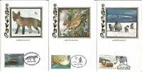 5 Winter Wildlife Benham Official Silk First Day Cover Postcards Jan 1982 U1584