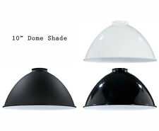 "Porcelain Enamel Shade: 10"" Metal Dome Shade, 2.25"" fitter for Pendant Lighting"