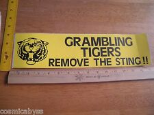 Grambling Tigers 1970's large bumper sticker Football remove the Sting