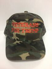 2020 President Donald Trump VETERANS FOR TRUMP Camo Embroidered Baseball Hat