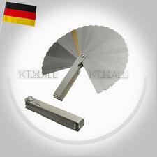 32 Blatt Abstandslehre Fühlerlehre Ventillehre Fühllehre 0,02-1,00 mm Spaltmass