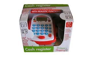 Kinder Registrierkasse Kasse mit Geräuschen batteriebetrieben für Kaufladen
