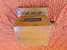 Ancien boitier en bois d'appel magnétique type A-téléphonique-2 lignes/2 sorties