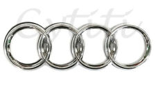 AUDI Front Grill or Rear Trunk Logo Badge Emblem (2.25 x 7 inch) SILVER