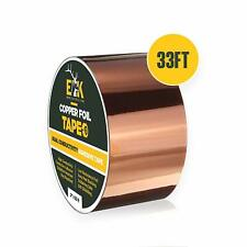 """Copper Foil Tape with Conductive Adhesive for Guitar & EMI Shielding (2"""" x 33')"""