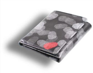 """ACME Studio """"Fingerprints"""" Printed Leather Tri-fold Wallet by James Wines NEW"""