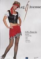 5 PC Sex y Pirate Women's Adult Fancy Dress Costume / Outfit - BNWT Jolly Roger