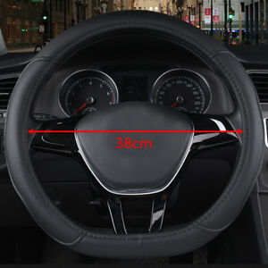 Black Car Steering Wheel Cover D Type For Nissan Rogue/Rogue Sport 2017-2018