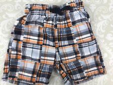 Gymboree Baby Boy 6-12 Mo Shorts Gone Surfin Navy Orange Madras Plaid Outlet
