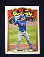 2021 Heritage Base Action Image Variation #51 Javier Baez - Chicago Cubs
