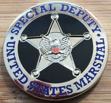 "US Marshals Service - ""Special Deputy"" version BADGE/SEAL challenge coin"
