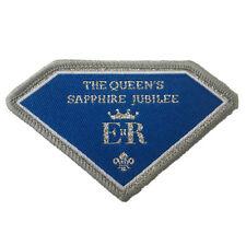 Queen's Sapphire Jubilee Fun Badge. Scout Badge 7 cm.
