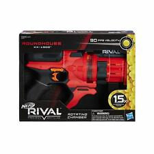 NERF Rival Roundhouse XX-1500 Red Blaster Clear Rotating Chamber Loads Rounds