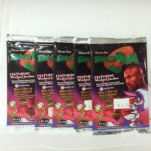 Lot of 5 1996 Space Jam Upper Desk Michael Jordan Card Deck New Sealed.......380