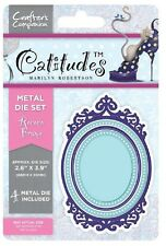 Crafters Companion Catitudes ROCOCO FRAME Metal Cutting & Embossing Die